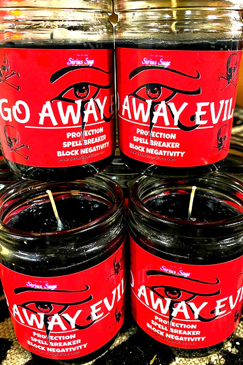 Go Away Evil Candle