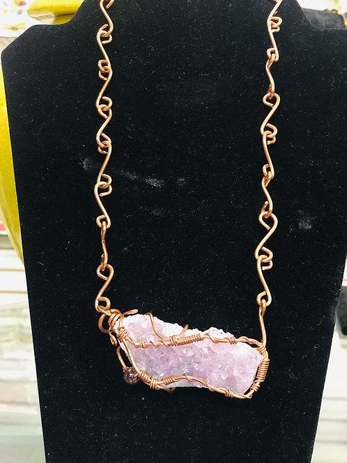 Copper Amethyst Necklace