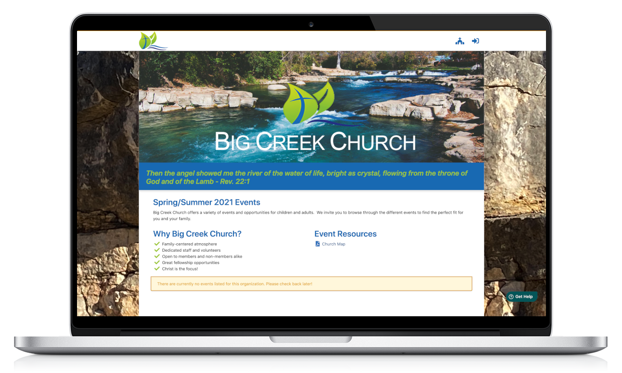 Live Example Church Home Page