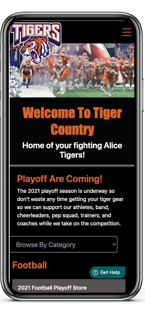 Live Example Sports Mobile Home Page