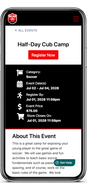 Live Example Sports Mobile Event Details