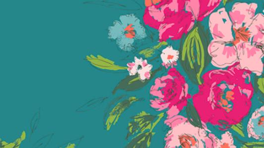 Floral Gala - Cotton Canvas