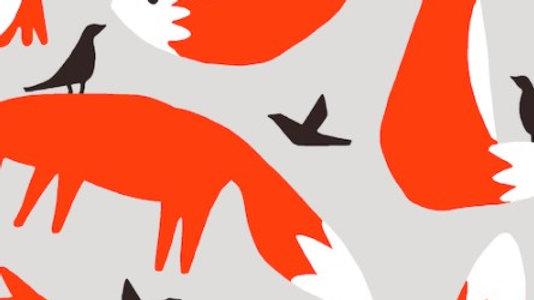 Foxes - Cotton Canvas