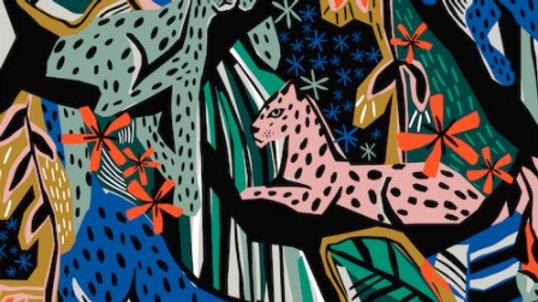 Jungle Royal - Cotton Canvas