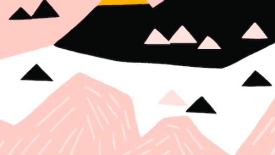 Pink Mountain - Durable canvas