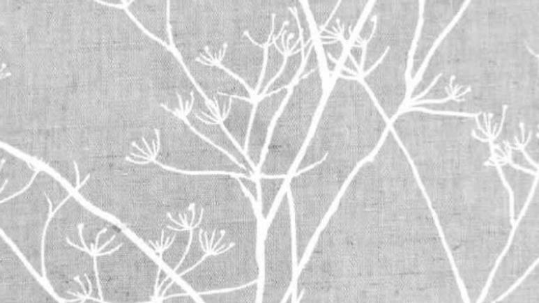 Floral White Linen Mix