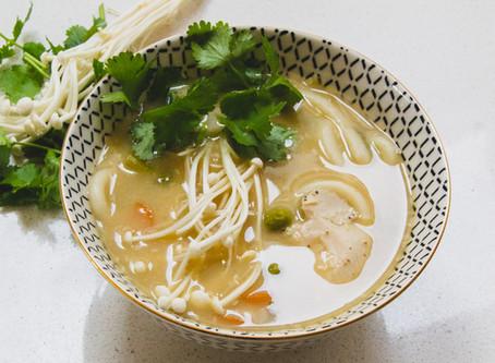 Chicken & Miso Udon Noodle Soup