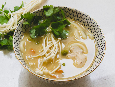 Chicken & Miso Udon Noodle Soup