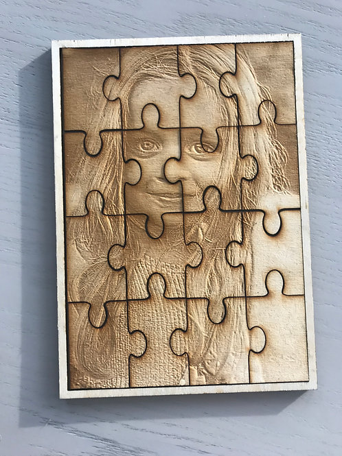Wood Photo Engraving Puzzle