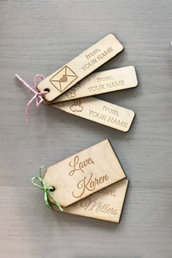 Custom Wood Gift Tags