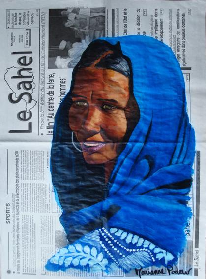 NIGER - La femme bleue