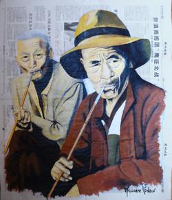 CHINE - Les fumeurs de pipe