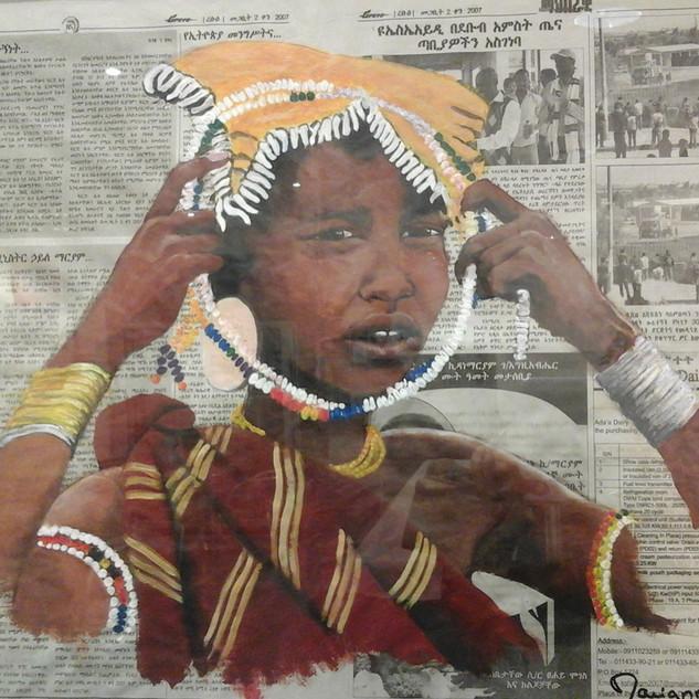 La fille Mursi - Ethiopie
