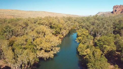 Ord River & Cooliman Ck confluence, The Kimberley, Western Australia