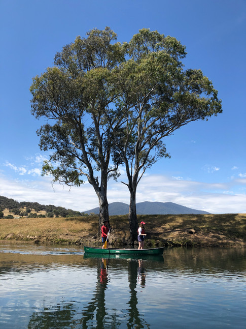 Megs and Max, Goulburn River, Trial Paddle