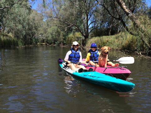Megs, Ella & Finney, Ovens River, Wangaratta