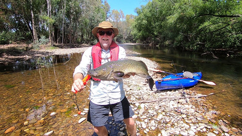 Darby with a nice Murray Cod, Ovens River Stage 7