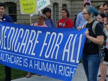 The Single Payer Shout Out Newsletter Vol. 1 Issue 1 (July 2018)