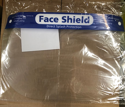Face Shield, Splash Protection 10pk