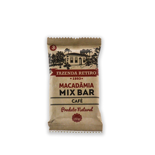Macadâmia Mix Bar - Cx. 15 Un. - Café
