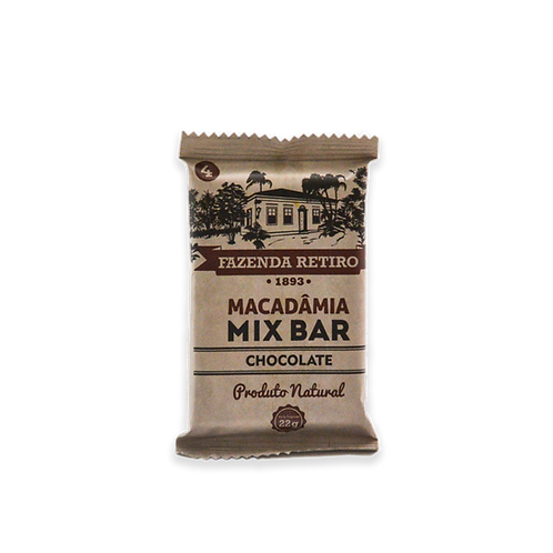 Macadâmia Mix Bar - Cx. 15 Un. - Chocolate