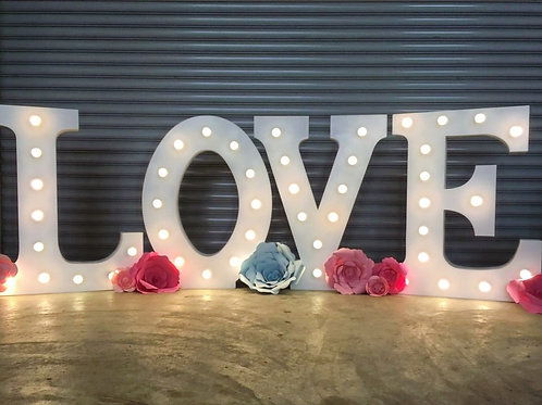 1.2m Tall LOVE Pre-Love Marquee Lights