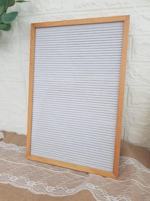 Felt Board (Brand New) Wood + White