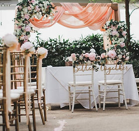 Jcraftyourevents_Wooden Arch with Peach