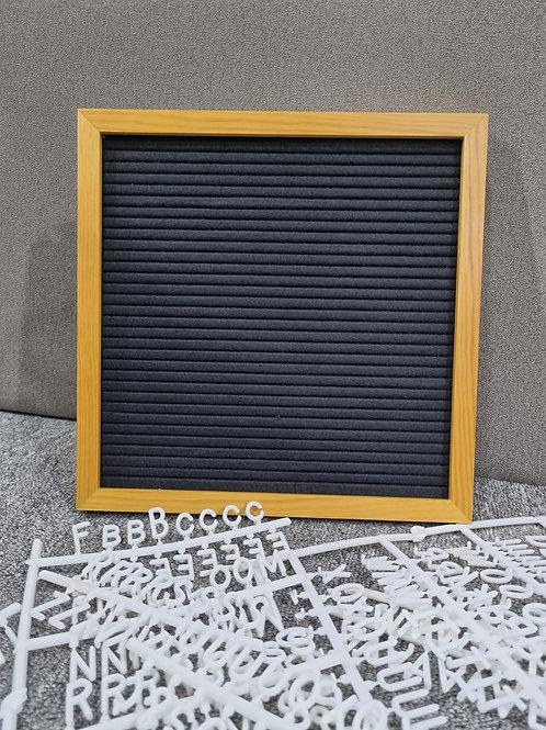Felt Board (Brand New) Wood + Black (Small Size)