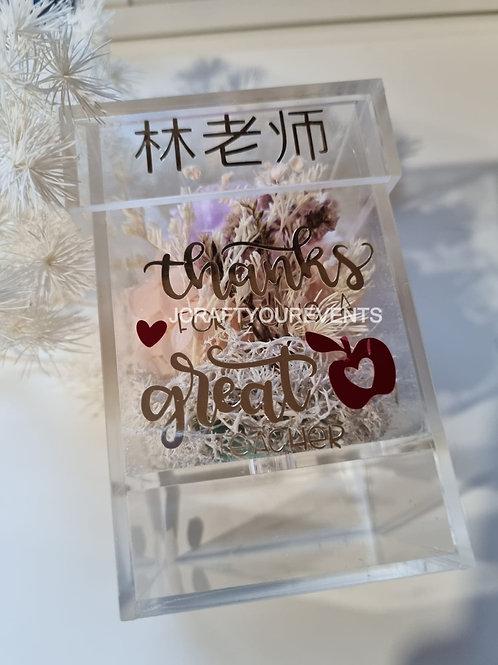 Flower Acrylic Box  (Petite Size)