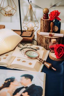 Jcraftyourevents_Photo Album Table Setup