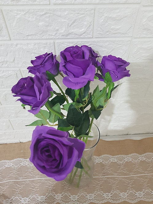 Purple Roses (6 Stalks)