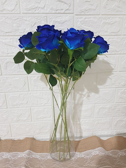 Small Blue Roses  (10 Stalks)