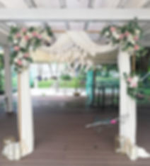 Standard Arch - White Drape with White a