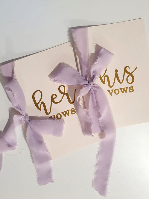 Wedding Vows Card - Lilac (One Set)
