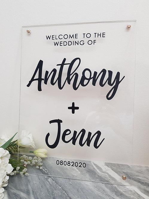 Acrylic Signage (A3)
