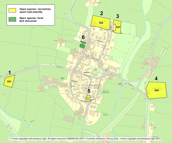 Figure 7.1 - Important Open Spaces in Sc