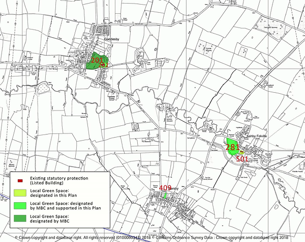 Figure 4 - Local Green Spaces in the Pla