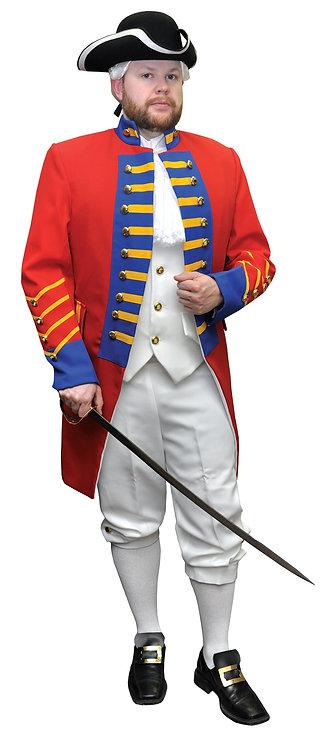 Men's British Revolution Officer Uniform