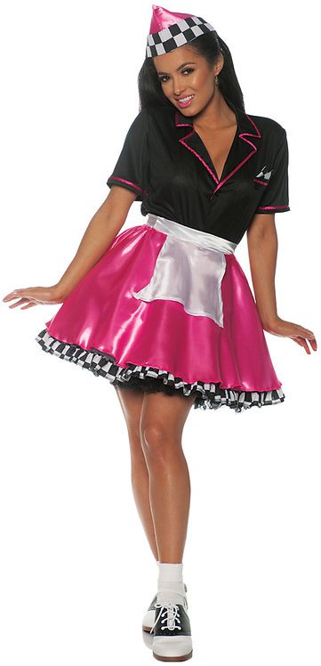 Women's Pink Car Hop Costume