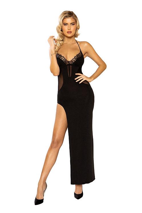 Maxi Length Dress with High Slit