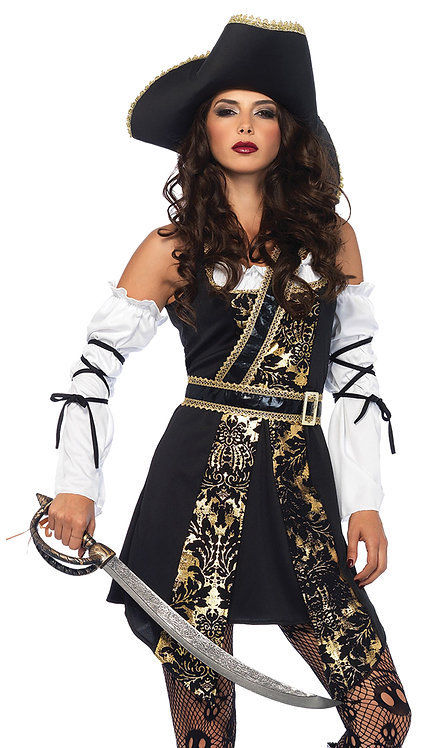 Women's Buccaneer Black Sea Costume