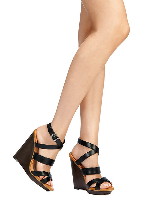 5 Inch Strappy Wedge