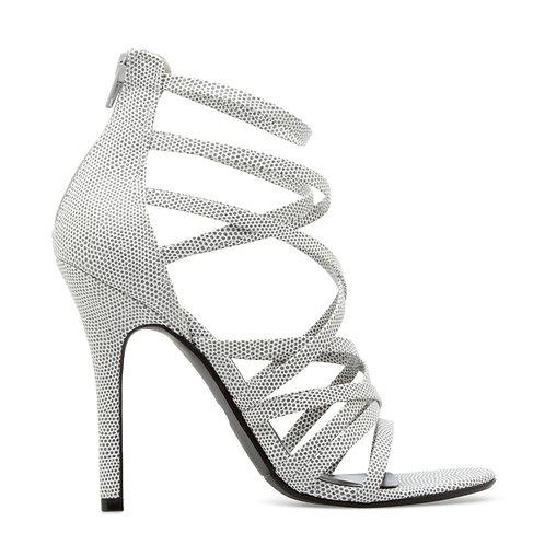 Faux-lizard strappy sandal