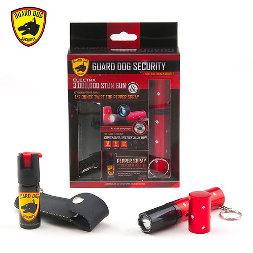 Lipstick Stun Gun + Pepper Spray Gift Set