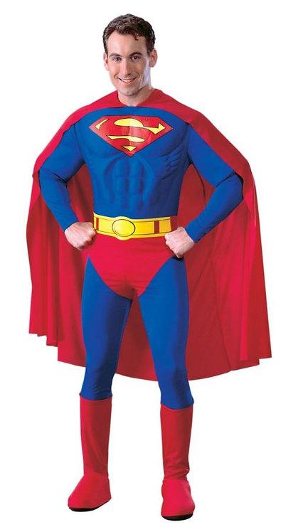 SUPERMAN ADULT  MUSCLE COSTUME