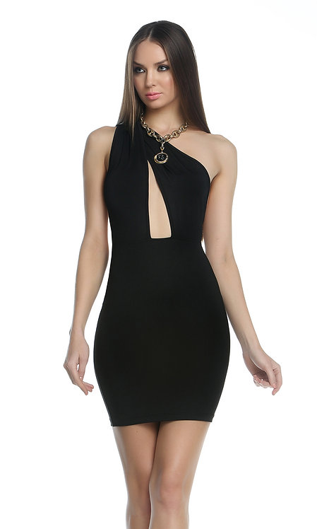 One Shoulder Twist Dress