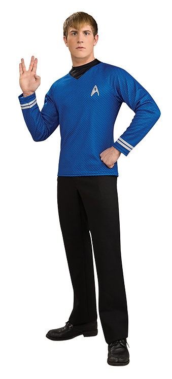 STAR TREK BLUE MOVIE DLX SHIRT COSTUME