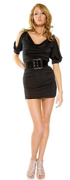 Cutout sleeve dress