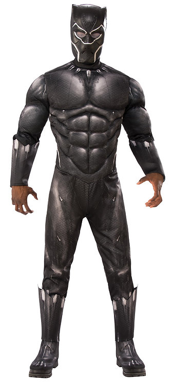 Men's Deluxe Muscle Black Panther Costume